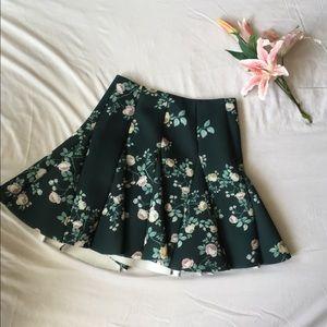 Floral Godet Skirt